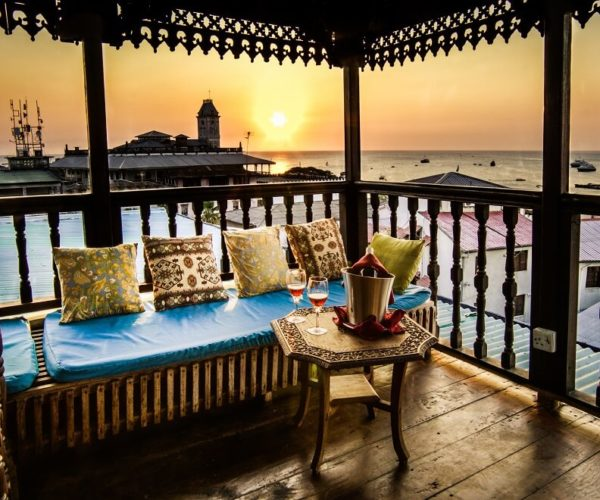 Rahim Sagaff, Emerson on Hurumzi, Zanzibar, Heritage, Zenji Decor, Boutique Hotel, Emerson Collection, Authentic Zanzibar, Zanzibar Experience. Roof top Sunset Tour